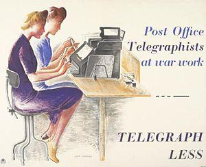 Donia Nachshen - Telegraph Less (1943) (Art.IWM PST 4041)