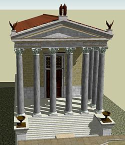 3D reconstruction of the Temple of Antoninus and Faustina.