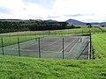 Tennis Court at Wester Housebyres Farm - geograph.org.uk - 248568.jpg