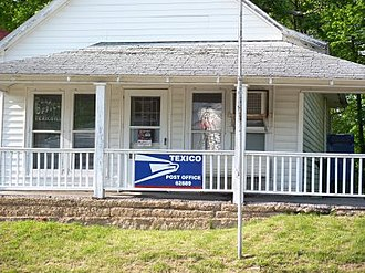 Texico, Illinois - Post office Texico, Illinois - 62889