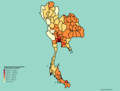 Thailand provinces by population density.png
