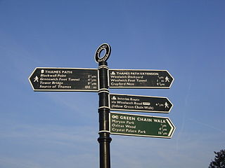 long-distance trail following the River Thames in England