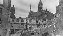 Thann после бомбардировки 1915 года - Танн, достопримечательности, путеводитель по городу, окрестности Мюлуза