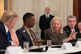 Ginni Rometty - Rometty participates on a White House panel on workforce development in March 2019