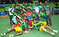 The Bronze Medal winning Men team of Bangladesh in the handball event, at the 12th South Asian Games-2016, in Guwahati on February 15, 2016.jpg