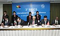 The Chairman, Competition Commission of India, Shri Ashok Chawla, the Vice Minister, China, Mr. Sun Hongzhi, the Commissioner CADE, Brazil, Mr. Alessandro Serafin Octaviani Luis, the Acting Commissioner, CCSA, South Africa.jpg