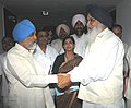The Chief Minister of Punjab, Shri Parkash Singh Badal meeting the Deputy Chairman, Planning Commission, Shri Montek Singh Ahluwalia to finalize Annual Plan 2010-11 of the State, in New Delhi on June 10, 2010.jpg