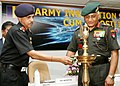 The Chief of Army Staff, General V.K. Singh lighting a lamp to inaugurate the Army Innovation Seminar cum Exposition, in New Delhi on June 29, 2010.jpg