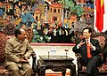 The Defence Minister, Shri A. K. Antony calling on the Vietnamese Prime Minister, Mr. Nguyen Tan Dung, in Hanoi on December 17, 2007.jpg
