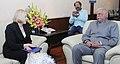 The Director, US Trade Development Agency, Ms. L.I. Zak meeting the Union Minister for Civil Aviation, Shri Ashok Gajapathi Raju Pusapati, in New Delhi on February 09, 2016.jpg