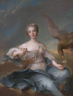 Hebe (mythology) - Louise Henriette of Bourbon, Duchess of Orléans as Hebe by Jean-Marc Nattier (1744)