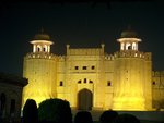 The Lahore Forts Alamgiri Gate Picture2 taken at night - July 20 2005.jpg