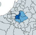 The Limburg provinces and the neighbouring Euroregional districts.png