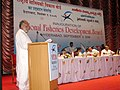 The Minister of State for Food & Agriculture Shri Taslimuddin addressing the gathering at the inaugural function of the National Fisheries Development Board in Hyderabad on September 9, 2006.jpg