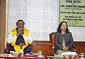 The Minister of State for Tribal Affairs, Shri Jaswantsinh Sumanbhai Bhabhor at a review meeting with the State Officials, Special Secretary and the Principals of EMRS Schools, at Gangtok, in Sikkim.JPG
