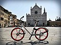 The Mobike Classic model in Piazza Santa Croce, Florence.jpg