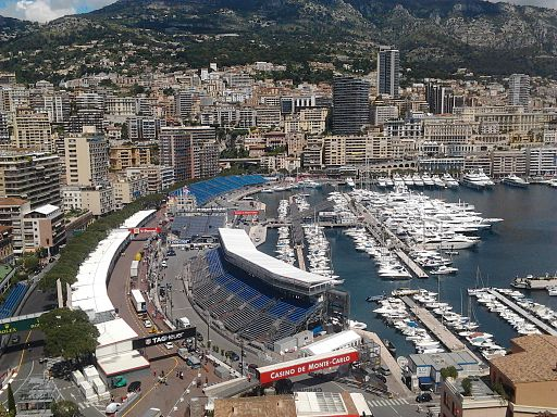 The Montecarlo's harbour during the days of Formula 1 Monaco GP 2013