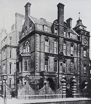 Elizabeth Garrett Anderson and Obstetric Hospital - Photograph showing The New Hospital for Women, Euston Road, London, which opened in 1890 with 42 beds.