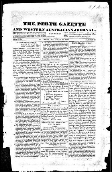 File:The Perth Gazette and Western Australian Journal 1(48).djvu