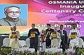 The President, Shri Pranab Mukherjee releasing the Souvenir at the inaugural function of the centenary celebrations of Osmania University, in Hyderabad.jpg
