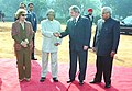 The President of the Federative Republic of Brazil Mr. Luiz Inacio Lula Da Silva and Mrs. Marisa Leticia Lula Da Silva being received by the President Dr. A.P.J. Abdul Kalam and the Prime Minister Shri Atal Bihari Vajpayee at a.jpg