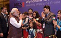 The Prime Minister, Shri Narendra Modi being welcomed by the Indian community, on his arrival, to attend the 9th BRICS Summit, in Xiamen, China on September 03, 2017 (3).jpg