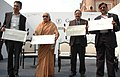The Union Minister for Culture, Smt. Chandresh Kumari Katoch releasing the first set of Imagery of Monuments, in New Delhi on February 20, 2014.jpg