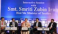 The Union Minister for Textiles, Smt. Smriti Irani participating at an interactive session of India Chamber of Commerce, in Kolkata on September 29, 2018 (1).JPG