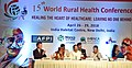 "The Vice President, Shri M. Venkaiah Naidu at an event to inaugurate the 15th World Rural Health Conference with the theme ""Healing the Heart of Healthcare - Leaving no one behind"", in New Delhi.JPG"
