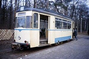 Berlin-Rahnsdorf station - Terminus of the Woltersdorf tramway at Rahnsdorf station (January 1990)