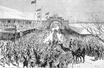 The arrival of Princess Louise in Hamilton, Bermuda (1883) The arrival of Princess Louise in Hamilton, Bermuda, in 1883.jpg