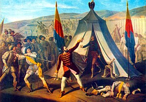 History of the flags of Romania - Constantin Lecca – The Killing of Michael the Brave
