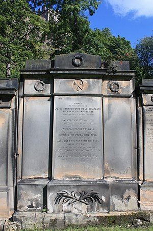 John Montgomerie Bell - The grave of John Montgomerie Bell, St Cuthberts Churchyard, Edinburgh
