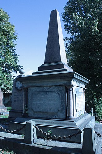 William Lawrence (London MP) - The grave of Sir William Lawrence MP, Kensal Green Cemetery