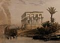 The hypaethral, or roofless, temple on the island of Philae, Wellcome V0049345.jpg