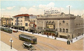 Richmond Union Passenger Railway - Richmond Theatrical District in 1923, with Perley Thomas streetcars.