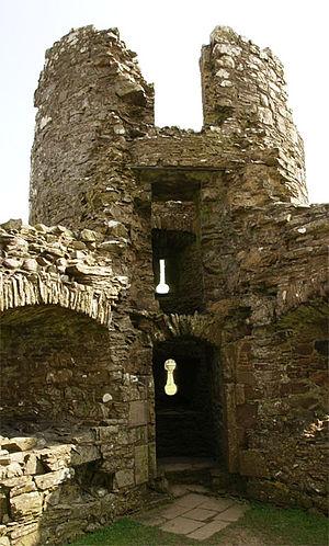 Threave Castle - The 8th Earl built the artillery house, provided with gun loops on two levels, as seen from inside