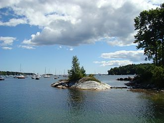 Maine Island Trail - Tidal Island in Rockport Harbor