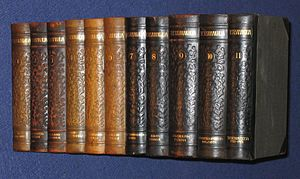 Tietosanakirja, 11 volumes, 1909-1922, Finnish encyclopedia.