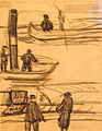 Tihanyi - Boaters, drawing.jpg