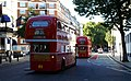 Timebus Travel Routemaster buses RML2389 (JJD 389D) and RM29 (OYM 453A), Bayswater, London, 4 August 2007.jpg