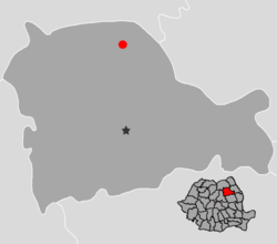 Location of Târgu Neamț