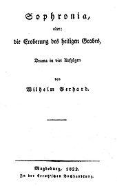 Titelblatt zu Sophronia (Quelle: Wikimedia)