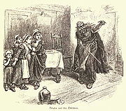 """Tituba, as portrayed in the 19th century by artist Alfred Fredericks in W. C. Bryant's """"A Popular History of the United States"""""""