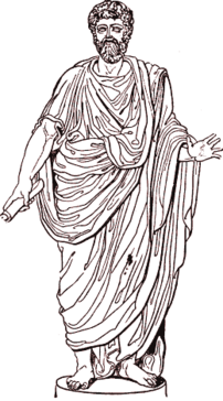 Roman clad in a toga
