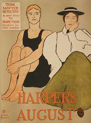 Tom Sawyer, Detective - Harper's August / Edward Penfield