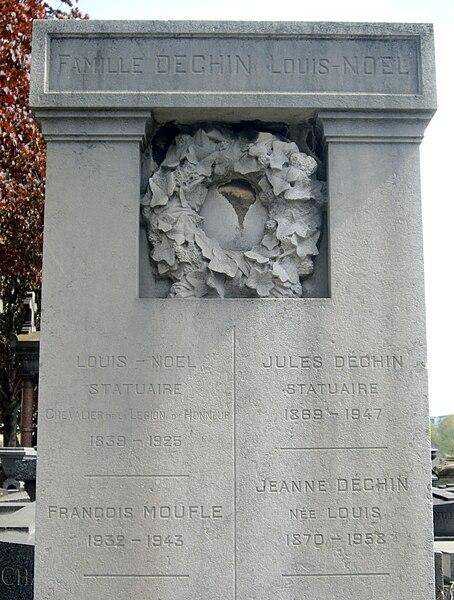 Fichier:Tombe Louis Noël - Jules Déchin, Cimetière de Montrouge.jpg