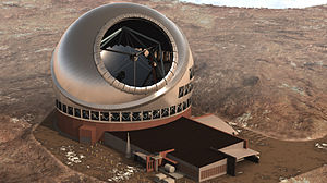 Extremely large telescope - Image: Top view of tmt complex