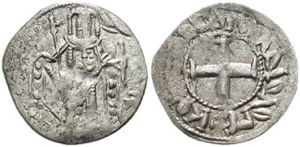 Byzantine Empire under the Palaiologos dynasty - Andronikos II's debasement of the Byzantine currency, along with his co-rule with his father, his son and his grandson as well as his own sole rule, resulted in the minting of several different coins during his reign.