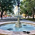 Toronto's newest fountain and fastest squirrel. All offered in the same shot -igerstoronto (30021937150).jpg